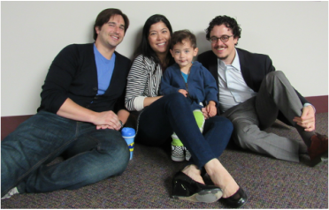 Rabbi Aaron Weininger with an Adath family